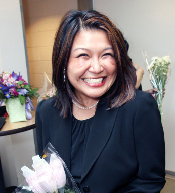 Hazel Anne Raymundo backstage at the Asia Society after the opening night performance of Robert Lee and Leon Ko's Heading East on May 24, 2010. Photo by Lia Chang