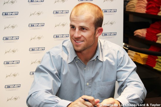 New York Yankee centerfielder Brett Gardner. Photo by Lia Chang/Lord & Taylor