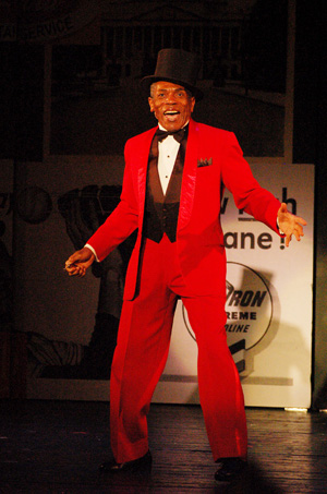 Andre De Shields as Applegate in Damn Yankees, currently playing at The John W. Engeman Theater in Northport through August 29, 2010. © Paul DeGrocco