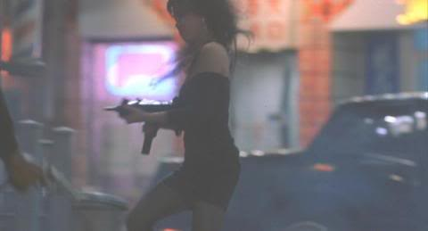 Lia Chang as a gangster's gun moll in Abel Ferrara's King of New York