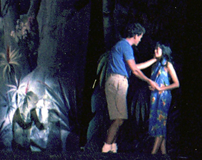 David Carroll as Lt. Cable and Lia Chang as Liat in South Pacific in 1986