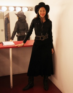 Lia Chang in the dressing room of the Theatre at St. Clements in New York before the performance of Ed Pomerantz' A Tune Beyond Us on February 15, 2009.