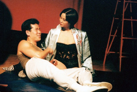Stephen Sable and Lia Chang in Jeff Weiss' Hot Keys at P.S. 122 in New York in 1993.