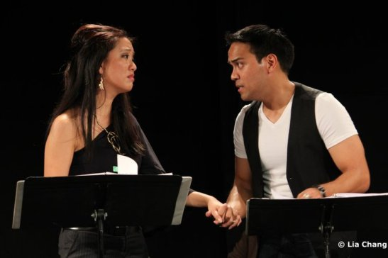 Jaygee Macapugay as Cassandra and Kurt Uy as Paul.  Photo by Lia Chang, Copyright 2010.