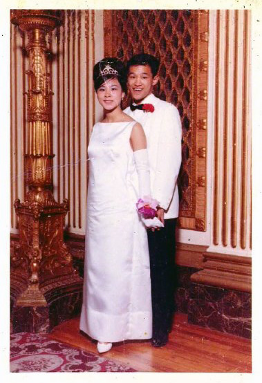 Beverly Chang and Russell Chang, my mom and dad at the prom in San Francisco. circa 1963
