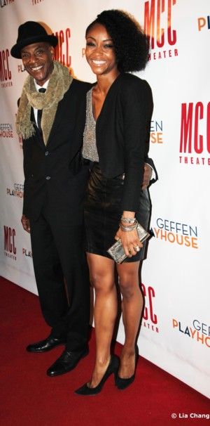 John Earl Jelks and YaYa DaCosta walk the red carpet at 49 Grove, the afterparty for Neil LaBute's The Break of Noon on November 22, 2010. Photo by Lia Chang