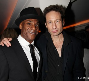 John Earl Jelks and David Duchovny Photo by Lia Chang