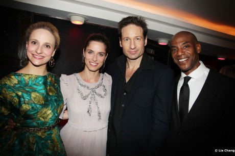 Tracee Chimo, Amanda Peet, David Duchovny and John Earl Jelks Photo by Lia Chang