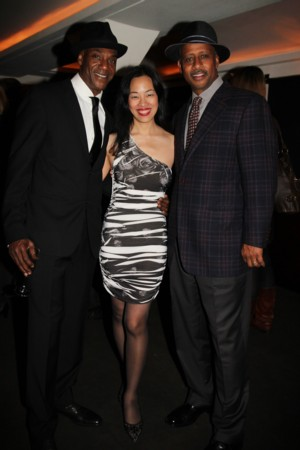 John Earl Jelks, Lia Chang and Ruben Santiago-Hudson  Photo by Charles Richard Barboza
