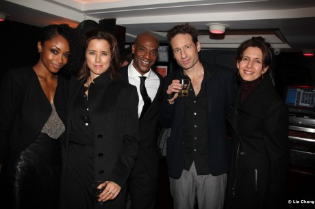 Yaya DaCosta, Tea Leoni, John Earl Jelks, David Duchovny and Jessica Hecht Photo by Lia Chang