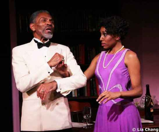 André De Shields as W.E.B. Du Bois with Erin Cherry, who play his daughter Yolande, in Charles Smith's Knock Me A Kiss. Photo by Lia Chang