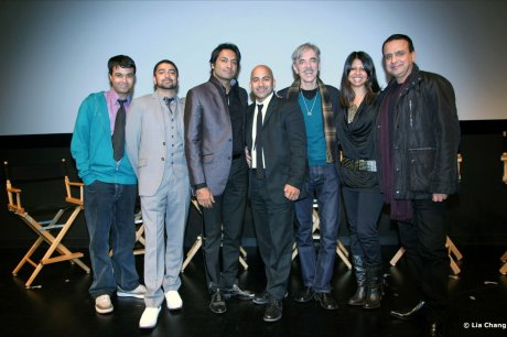Q&A of Ashes - A film by Ajay Naidu at the Mahindra Indo-American Arts Council Film Festival, SVA Theater in New York on November 12, 2010. (l-r) Ajay Naidu, Debargo Sanyal, Atul Ohri, Samrat Chakrabarti, Ajay Naidu, Reena Shah & Ajay Mehta. é 2010 Lia Chang