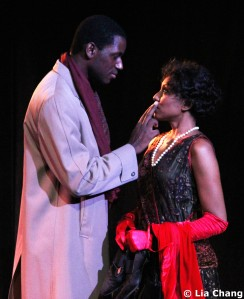 Erin Cherry as Yolande Du Bois and Sean Phillips as Countee Cullen in Charles Smith's Knock Me a Kiss. © Lia Chang