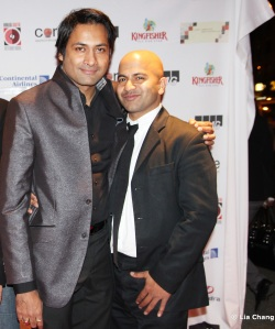 Samrat Chakrabarti and Ashes filmmaker and star Ajay Naidu at the MIAAC screening of Ashes at the SVA Theater in New York on November 12, 2010. Naidu was named Best Actor for Ashes at the Festival. Photo by Lia Chang