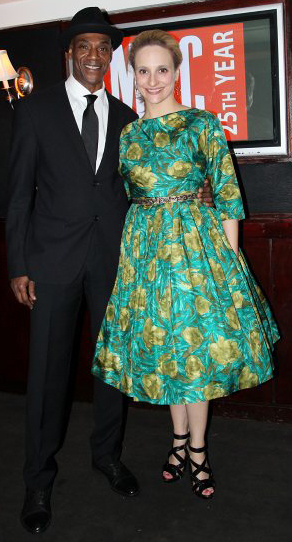 John Earl Jelks and Tracee Chimo at the opening night afterparty at 49 Grove for MCC's production of Neil LaBute's The Break of Noon in New York on November 22, 2010 Photo by Lia Chang