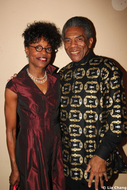Castmembers Charlayne Woodard and André De Shields at their opening night benefit party for the Red Bull Theater's Production of The Witch of Edmonton, at the Theatre at St. Clement's in New York on January 30, 2011. Photo by Lia Chang
