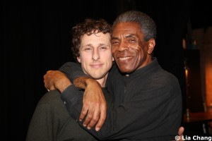 Alec Nemser and André De Shields. Photo by Lia Chang