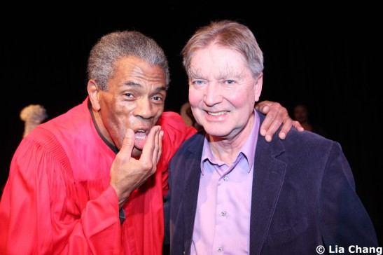 Frequent collaborators André De Shields and playwright Lonnie Carter. Photo by Lia Chang