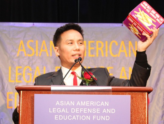 "BD Wong regales the crowd with stories about the White House State Dinner, Tiger Moms, and ""cacist"" cookies. Photo by Lia Chang"