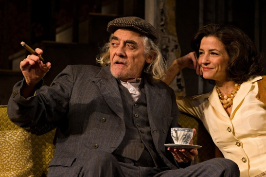 Jarlath Conroy and Felicity Jones in CENTERSTAGE's production of The Homecoming by Harold Pinter, Directed by Irene Lewis. Photo by Richard Anderson
