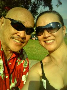 My father Russell Chang and sister Tami. Photo by Tami Chang