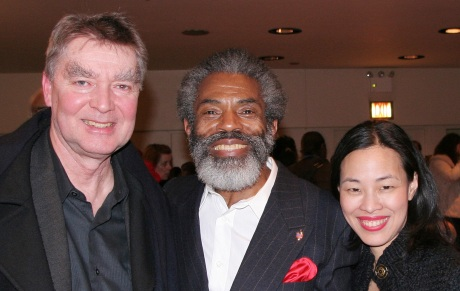 Playwright Lonnie Carter, André De Shields and Lia Chang