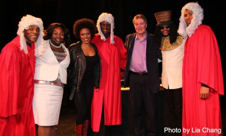 André De Shields, Roenia Thompson, Gillian Glasco, Sean Phillips, Lonnie Carter, Forrest McClendon and Alexander Elisa Photo by Lia Chang