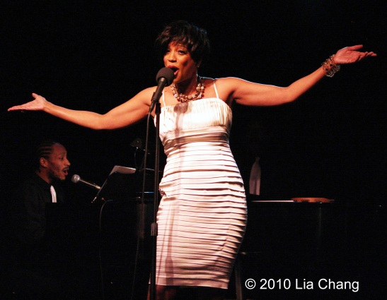 Marva Hicks at The Triad Theatre in New York on December 17, 2010. Photo by Lia Chang