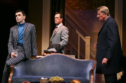 Atlantic Theater Companys production of Harold Pinter's The Collection. (l-r) Matt McGrath, Darren Pettie and Larry Bryggman Photo by Ari Mintz
