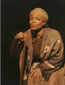 Denise Burse as Harriet Tubman in Harriet's Return. Photo by Lia Chang