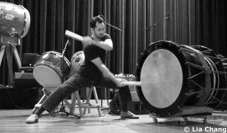 Taiko drummer Kaoru Watanabe Photo by Lia Chang