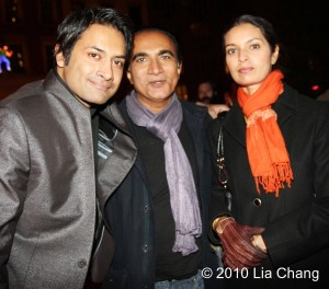 Samrat Chakrabarti, author Jhumpa Lahiri and Glee's Iqbal Theba at the 10th annual Mahindra Indo-American Arts Council (MIAAC) Film Festival at the SVA Theater in New York on November 12, 2010. © 2010 Lia Chang