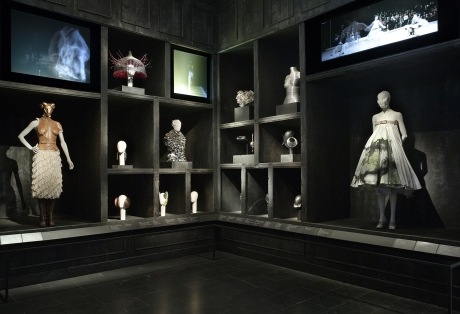 """Romantic Gothic and Cabinet of Curiosities: """"Romantic Gothic"""" highlights McQueen's historicism, particularly his engagement with the Victorian Gothic, and dichotomies such as life and death. Courtesy of The Metropolitan Museum of Art."""