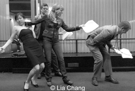 Cast of Eileen Rivera's Til Death, (L to R) Angela Lin, Joshua Spafford, Sandi Carroll and Jake Meyers, Directed by Nelson Eusebio. © Lia Chang