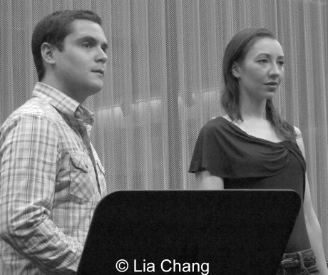 Cast of Kristine M. Reyes' Ready, Aim...Fire!, Zack Griffiths and Helen Farmer, Directed by Victor Lirio  © Lia Chang