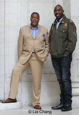 Meshach Taylor and filmmaker Dr. Omowale Akintunde © Lia Chang