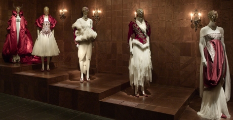 """""""Romantic Nationalism"""" looks at McQueen's patriotic impulses, including his reflections on his Scottish heritage and his fascination with British history. Courtesy of The Metropolitan Museum of Art."""
