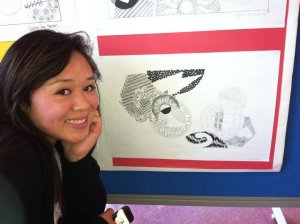 Artist Asia Flores, age 15. Photo by Marissa Chang-Flores