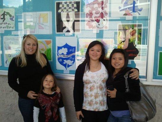 Michelle Lagandaon, Mya Lagandaon, Asia Flores and Leah Baptista. Photo by Marissa Chang-Flores