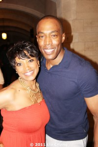 Marva Hicks and Michael McElroy, founder and director of Broadway Inspirational Voices, at the Central Presbyterian Church in New York on June 20, 2011. Photo credit: © Lia Chang
