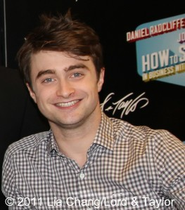 "Daniel Radcliffe made a special appearance at the Lord & Taylor Fifth Ave Store for the unveiling of the ""How to Succeed in Business Without Really Trying"" Musical themed windows on June 23, 2011. Photo by Lia Chang/Lord & Taylor"