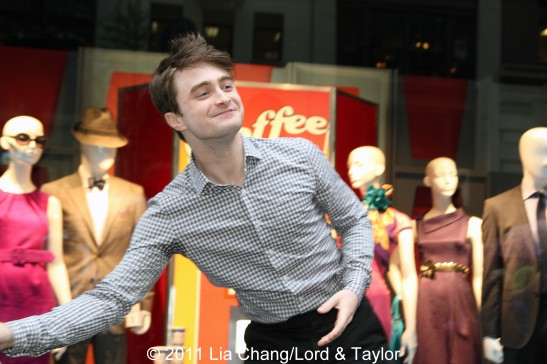 How To Succeed in Business Without Really Trying' star Daniel Radcliffe at the unveiling of the Lord & Taylor Flagship Store Fifth Avenue windows filled with fashions inspired by their hit Broadway revival, on Thursday, June 23, 2011 in New York. Photo by Lia Chang/Lord & Taylor
