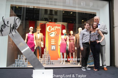 How To Succeed in Business Without Really Trying' stars Daniel Radcliffe, Rose Hemingway and Tony winner John Larroquette at the unveiling of the Lord & Taylor Flagship Store Fifth Avenue windows filled with fashions inspired by their hit Broadway revival, on Thursday, June 23, 2011 in New York. Photo by Lia Chang/Lord & Taylor