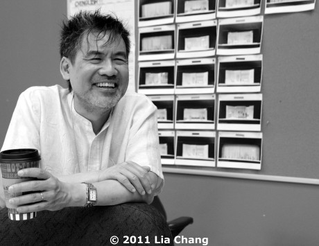 Playwright David Henry Hwang during a rehearsal for the world premiere of his new play Chinglish, directed by Leigh Silverman, in the Healy Rehearsal room at the Goodman Theatre in Chicago. © 2011 Lia Chang