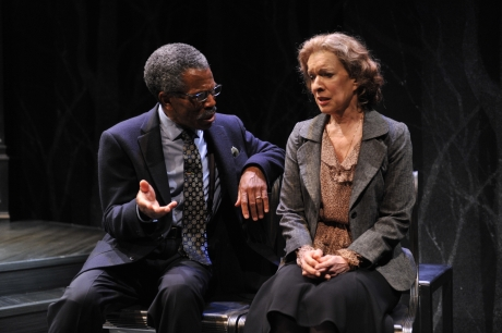 Linda Kimbrough as Marie and André De Shields as James in Charles Smith's The Gospel According To James at Victory Gardens Theater.  Photo by Liz Lauren