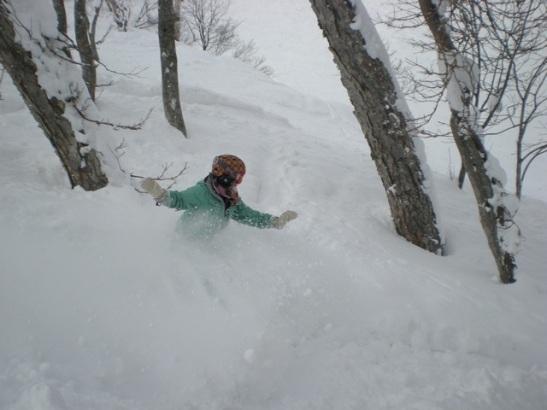 Snowboarder Suzen Murakoshi