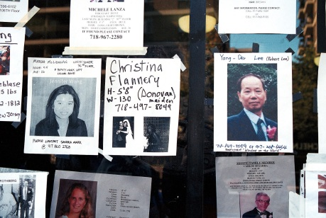 Wall of the missing after 9-11 Photo by Lia Chang