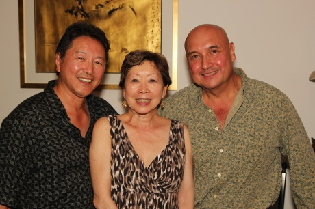 Rick Shiomi, Julie Azuma and Tamio Spiegel.  Photo by Lia Chang