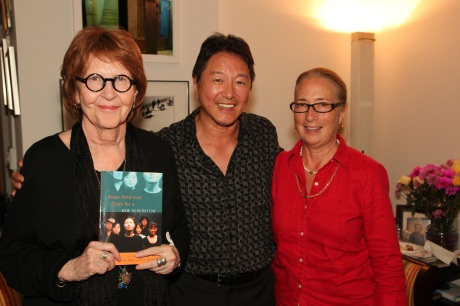 Carol Connolly, the poet Laureate of St. Paul, Rick Shiomi and Cathie Hartnett of My Talk Radio in St. Paul. Photo by Lia Chang