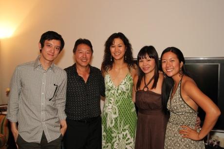 Sean Tarjoto, Rick Shiomi, Cindy Cheung, Fay Ann Lee, Amy Chang Photo by Lia Chang